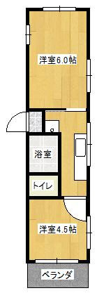 西田YKビル 401間取り