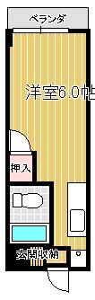 西田YKビル302間取り