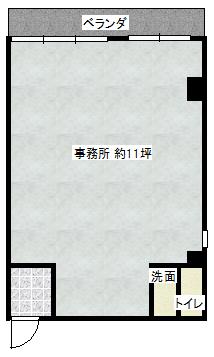 テナント 約11坪 KAZUKI.BLD201間取り